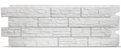 Фасадные панели для отделки дома Docke Stein под белый камень
