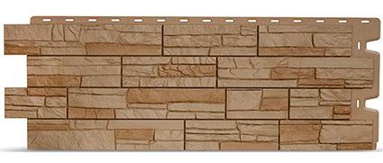 Фасадные панели для отделки дома Docke коричневый цвет