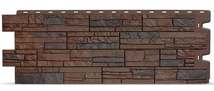 Фасадные панели для отделки дома Docke Stein под темный камень