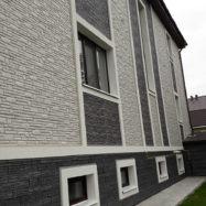 Отделка стен дома фасадными панелями деке stern