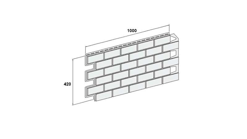 Размеры фасадной панели Солид Brick производитель Вокс