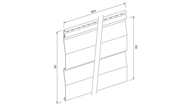 Размеры панели сайдинга unicolor производителя VOX