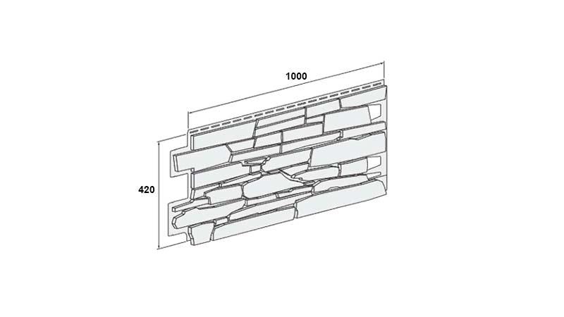 Размеры панели сайдинга Вокс серии Solid Stone