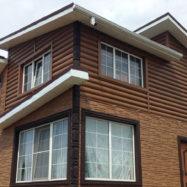 Акриловый сайдинг Блок-хаус для обшивки фото дома
