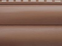 Сайдинг акриловый блок хаус Альта-Профиль цвет красно-коричневый