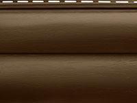Сайдинг акриловый блок хаус Альта-Профиль цвет темный орех